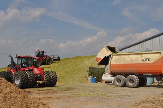 Silage Pile and Manure Spreading 09 07 13 009